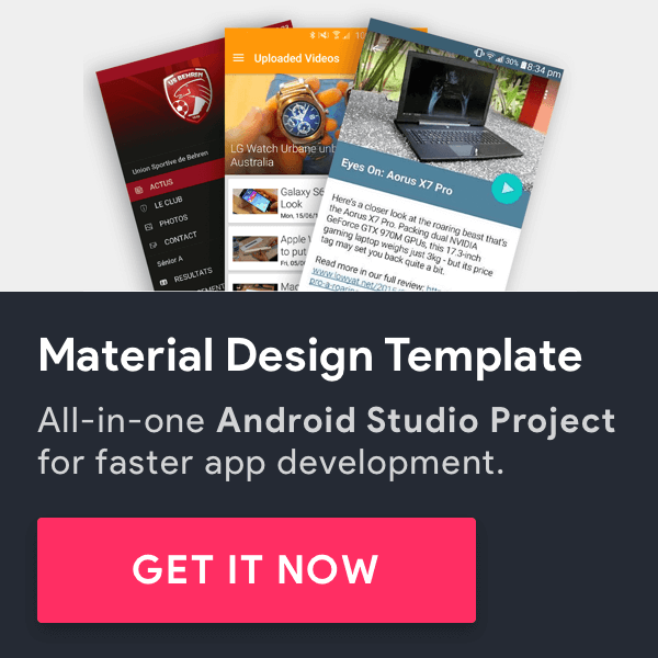 Android Material UI Template 8 in 1 CodeCanyon