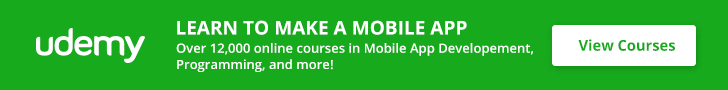 Learn to make a mobile app with Udemy!