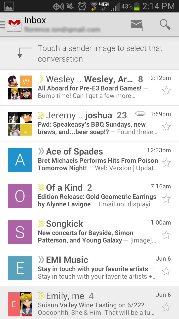 android gmail holo