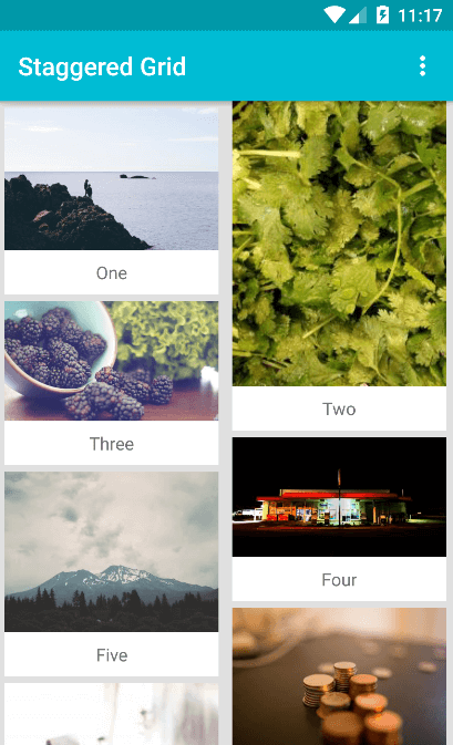 Pinterest Masonry Layout (Staggered Grid) with RecyclerView