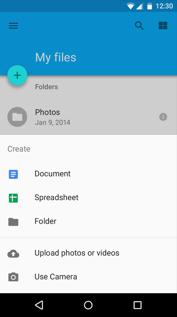 Bottom Sheet with Android Design Support Library