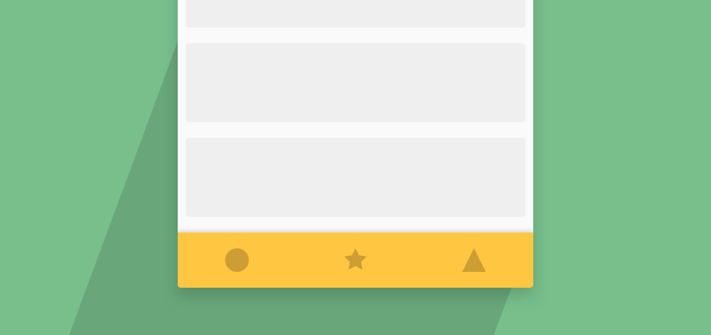 Using Bottom Navigation View with Android Design Support