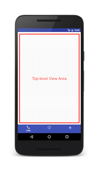 Using Bottom Navigation View with Android Design Support Library