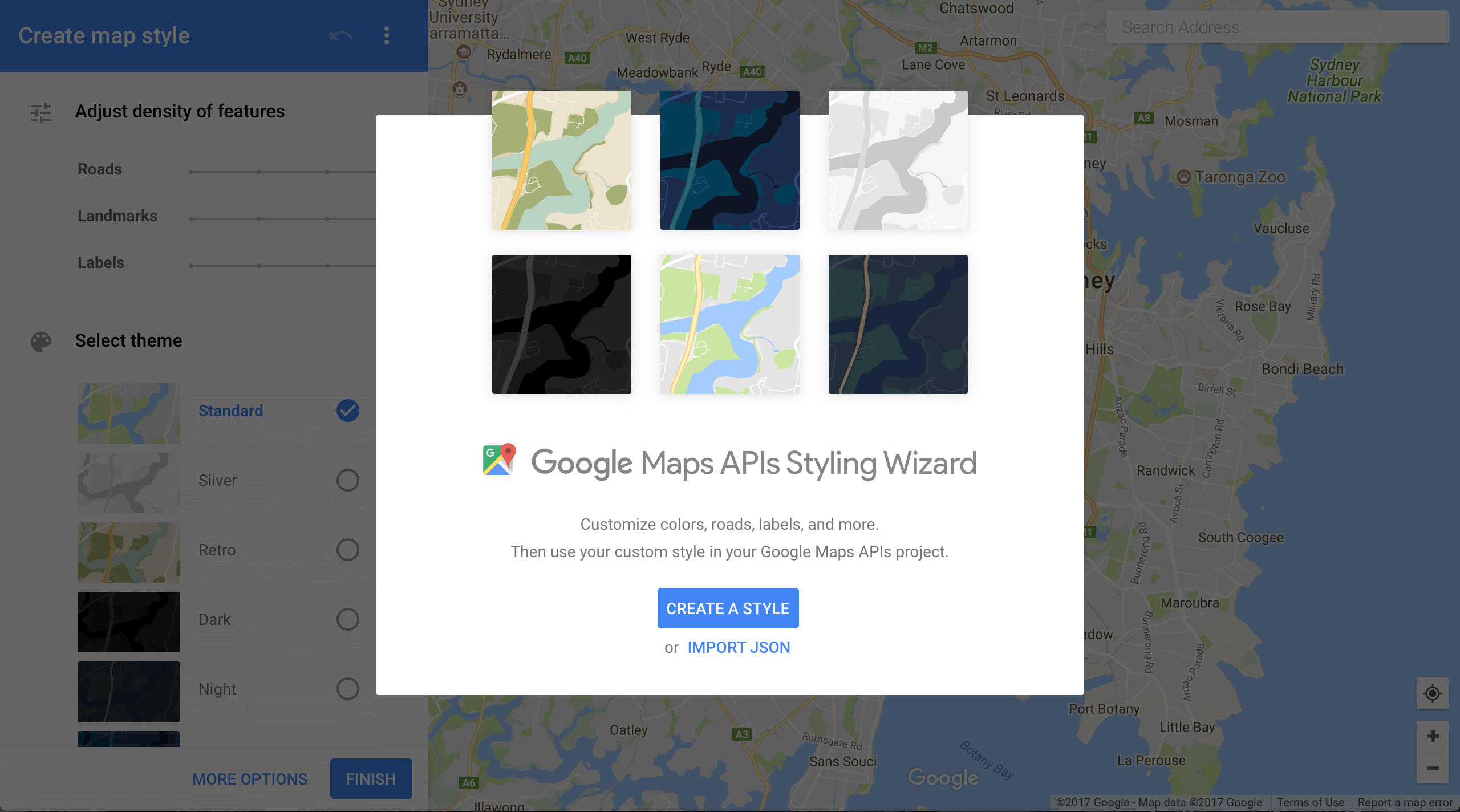 Customize Color with Styled Google Maps in Android